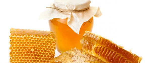 Beautiful combs and honey